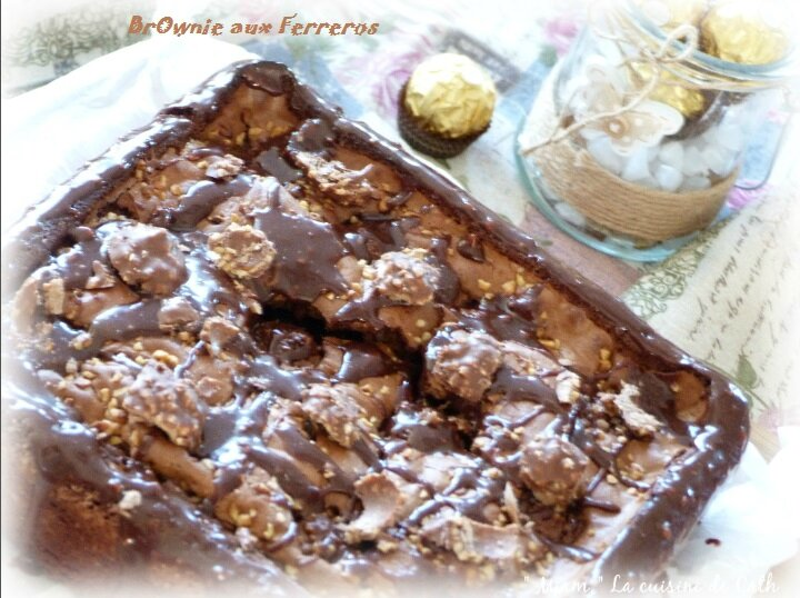 """ღ """" Miam """" BrOwnie aux Ferreros Rochers"""
