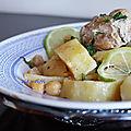 Batata baïda marka / ragoût de pommes de terre sauce blanche au poulet
