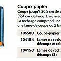 p120 coupe papier