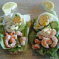 Räksmörgås (tartine aux crevettes)