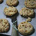 Cookies à l'angélique et chocolat blanc