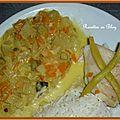 Filets de bar au fenouil et carottes au safran