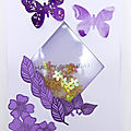 Carte losange fleuri - Flowered diamond <b>card</b>