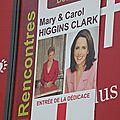 Dédicace de mary & carol higgins clark
