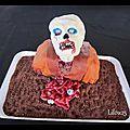 Gâteau halloween zombie, ou âme sensible s'abstenir... + tutoriel