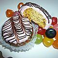 <b>Mkhabez</b> : gâteau au flan et noix glacé