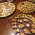 Petits sablés de <b>Noël</b> et gâteaux au pain d'épices