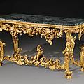 A north Italian giltwood <b>side</b> <b>table</b> Genoa, circa 1730