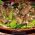 Salade sarcives poulet aux graines