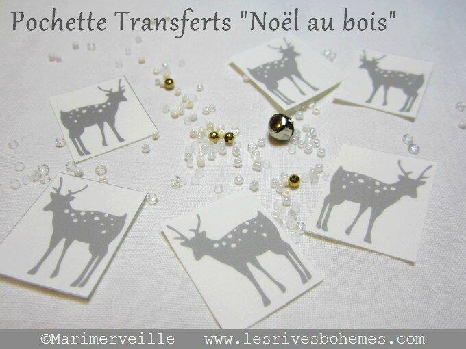 Transferts Marimerveille vignettes Noël au bois