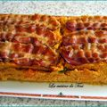 Cake aux carottes et lard fumé