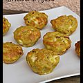 Muffins au pesto, feta et bacon