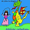 Atelier kamishibaï, atelier création d'un livre ou conte à illustrer : l'histoire de la princesse rondine et de léon le dragon