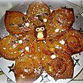 Gâteau fleur - moelleux aux pommes et spéculoos
