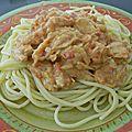 Spaghettoni au poulet sauce courgette tomato-crème