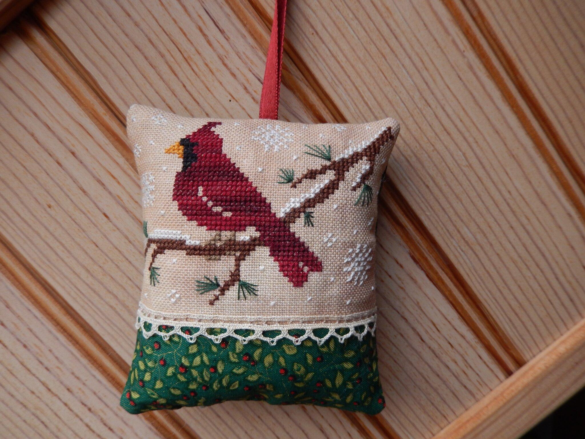 coussinet little red bird