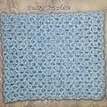 Snood bleu ciel crochet