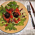 Salade de figues rôties