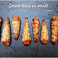 Cornets feuilletés farcis au poulet
