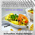 <b>Nouvel</b> <b>an</b> <b>chinois</b> : Crevettes roses à la crème coco / curcuma