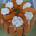 Charlotte abricot-basilic et orgeat