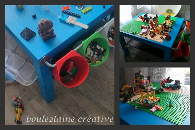 bricolage et recyclage la table lego de pablo boule2laine cr ative. Black Bedroom Furniture Sets. Home Design Ideas