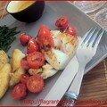 Cabillaud au beurre blanc, salicornes et rates