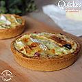 Quiches aux poireaux, jambon et <b>camembert</b>