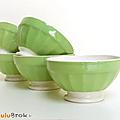 Vaisselle Ancienne ... <b>BOLS</b> vert * Digoin Sarreguemines