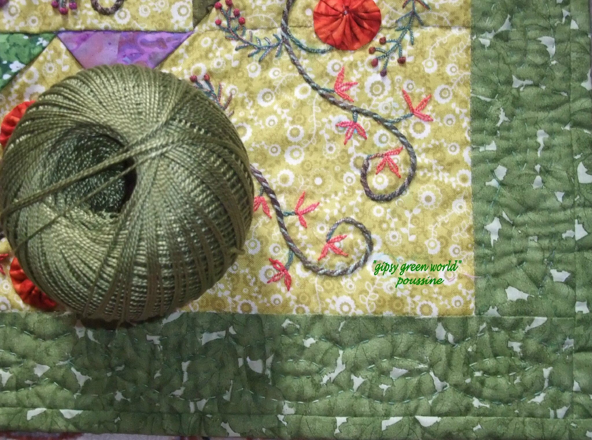 gipsy green world quilting