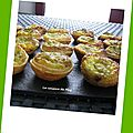 Tartelettes thon asperges