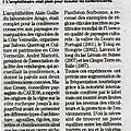 Article de l'indépendant du 19 octobre 2016
