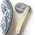 ☁ galet + tampon encreur = porte couteau ☁