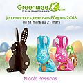Qui veut gagner des lots pour pâques? moule et chocolats.......offerts par greenweez.com