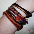 Chouette kit, bijoux : manchette d'automne