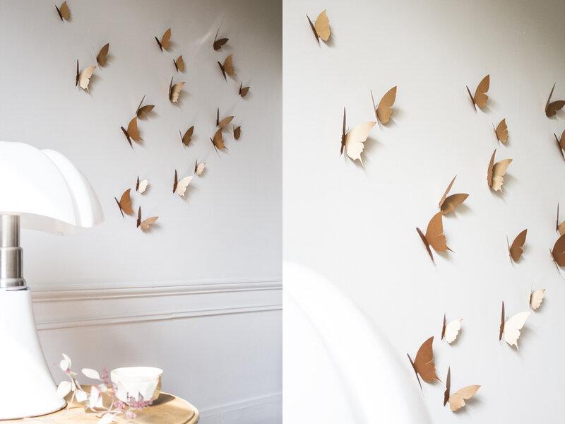 Envolée de papillons walldecor chambre enfant trendylittle 5