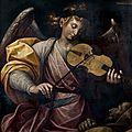 Guglielmo Caccia dit il Moncalvo (Montabone 1568 - Moncalvo 1625), L'ange musicien consolant <b>saint</b> <b>François</b> d'Assise