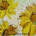 Mes dernieres peintures - my last paintings at oil painting at knife