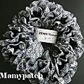 écharpe laine-tissu