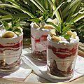 Tiramisu bananes fraises