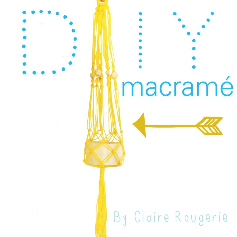 Diy sunny macram de beaux souvenirs - Faire macrame suspension ...