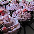 <b>Cupcakes</b> Chocolat et Fruits rouges - sans oeuf