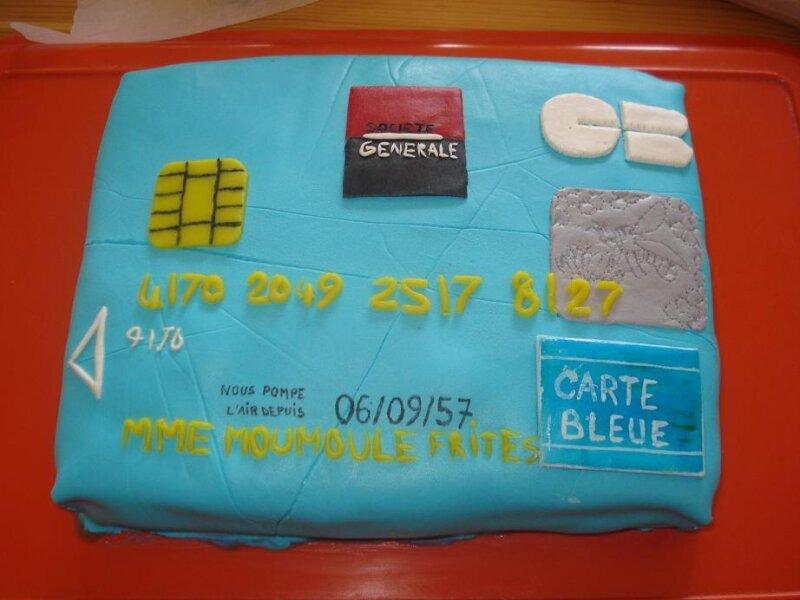 Gâteau carte bancaire