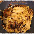 Blésotto de poulet aux champignons