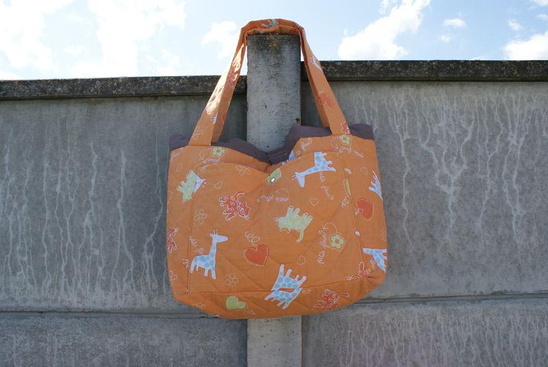 1 : SAC A LANGER orange motif animaux