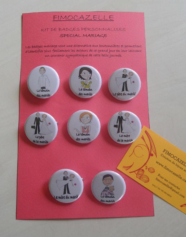 kit badges mariage
