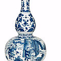 A blue and white double-gourd vase, chongzhen period (1627-1644)