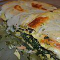 Lasagnes épinards saumon