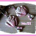Bo boutons de rose, céramique artisanale fait-main