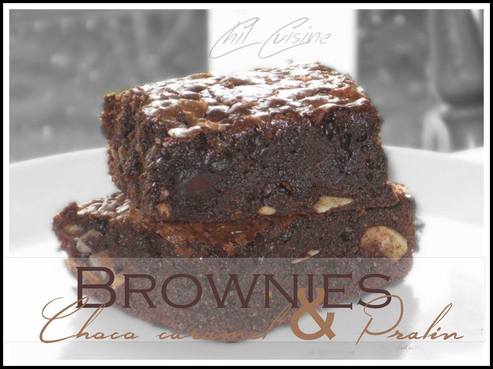 Brownies chococaramel & pralin